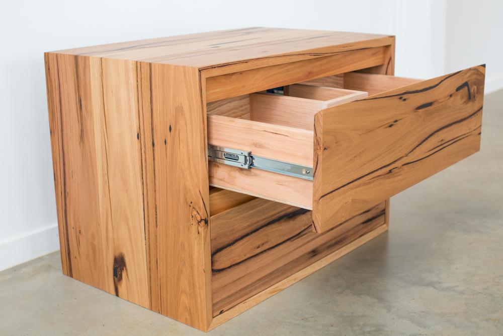 Solid timber internals vanity