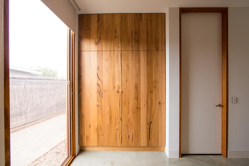 Timber wardrobe doors