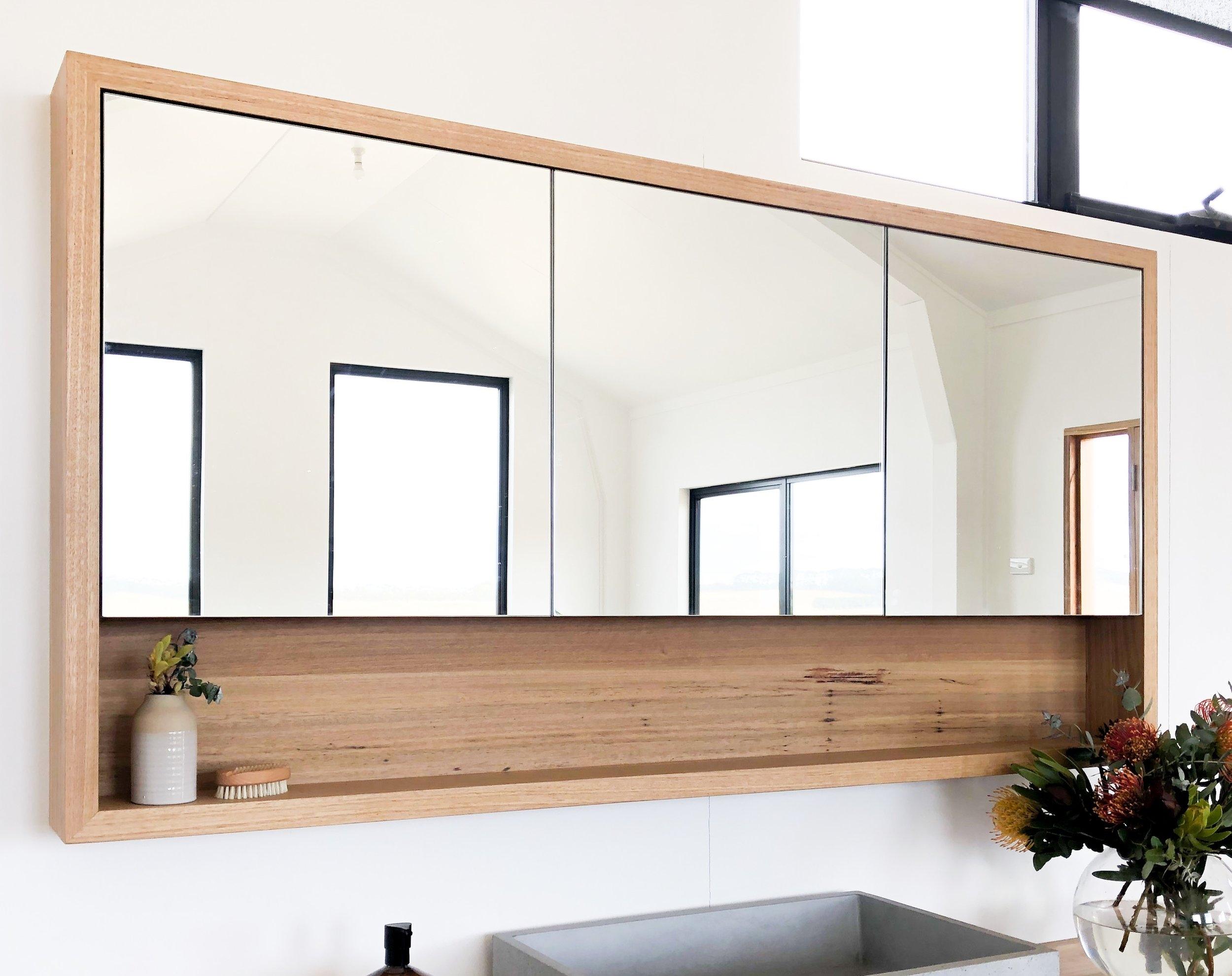 Custom timber shaving cabinet