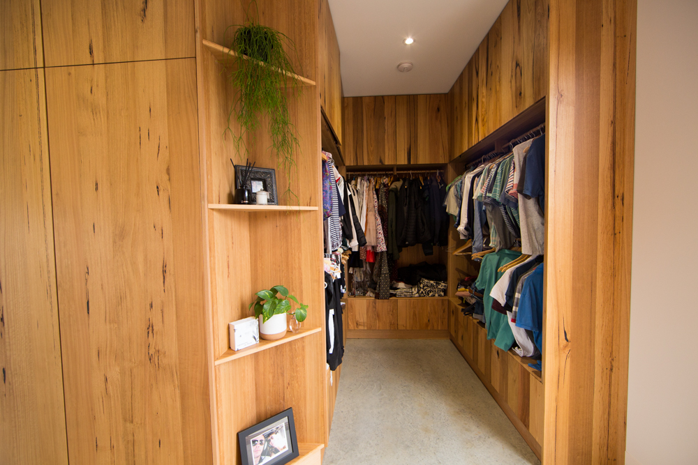 Custom timber wardrobe