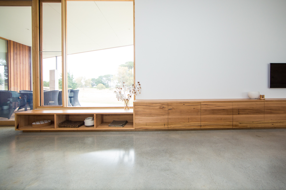 Modern timber TV cabinet