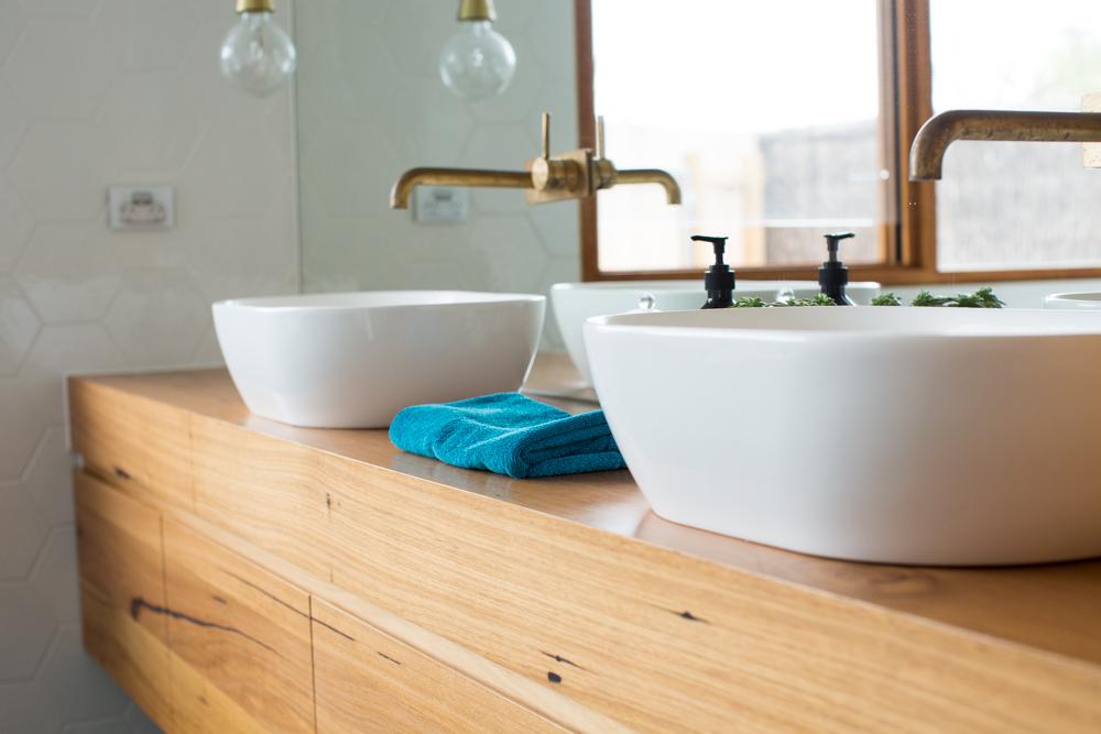 Modern timber vanity