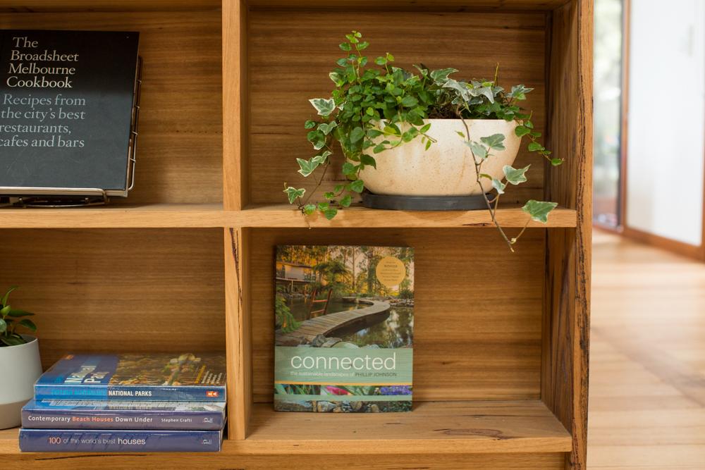 Timber kitchen bookcase