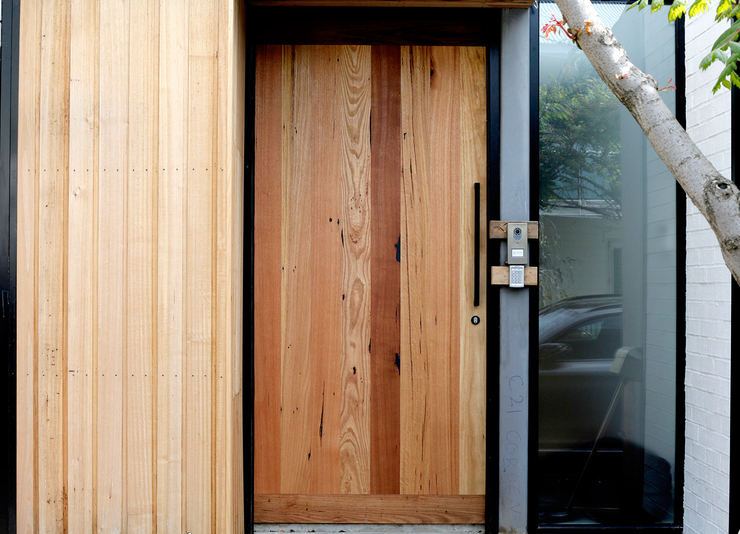 Recycled timber door