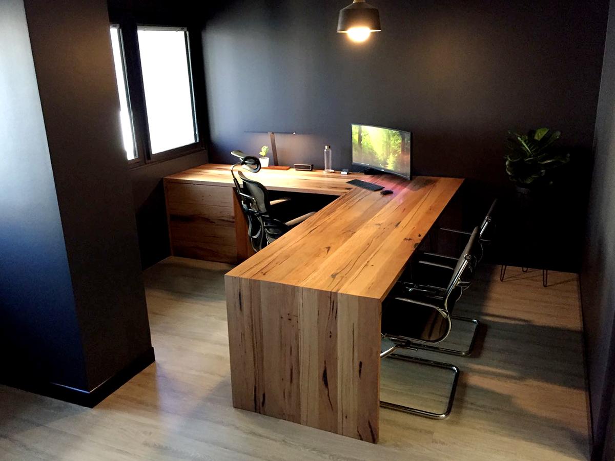 custom made timber desk for office