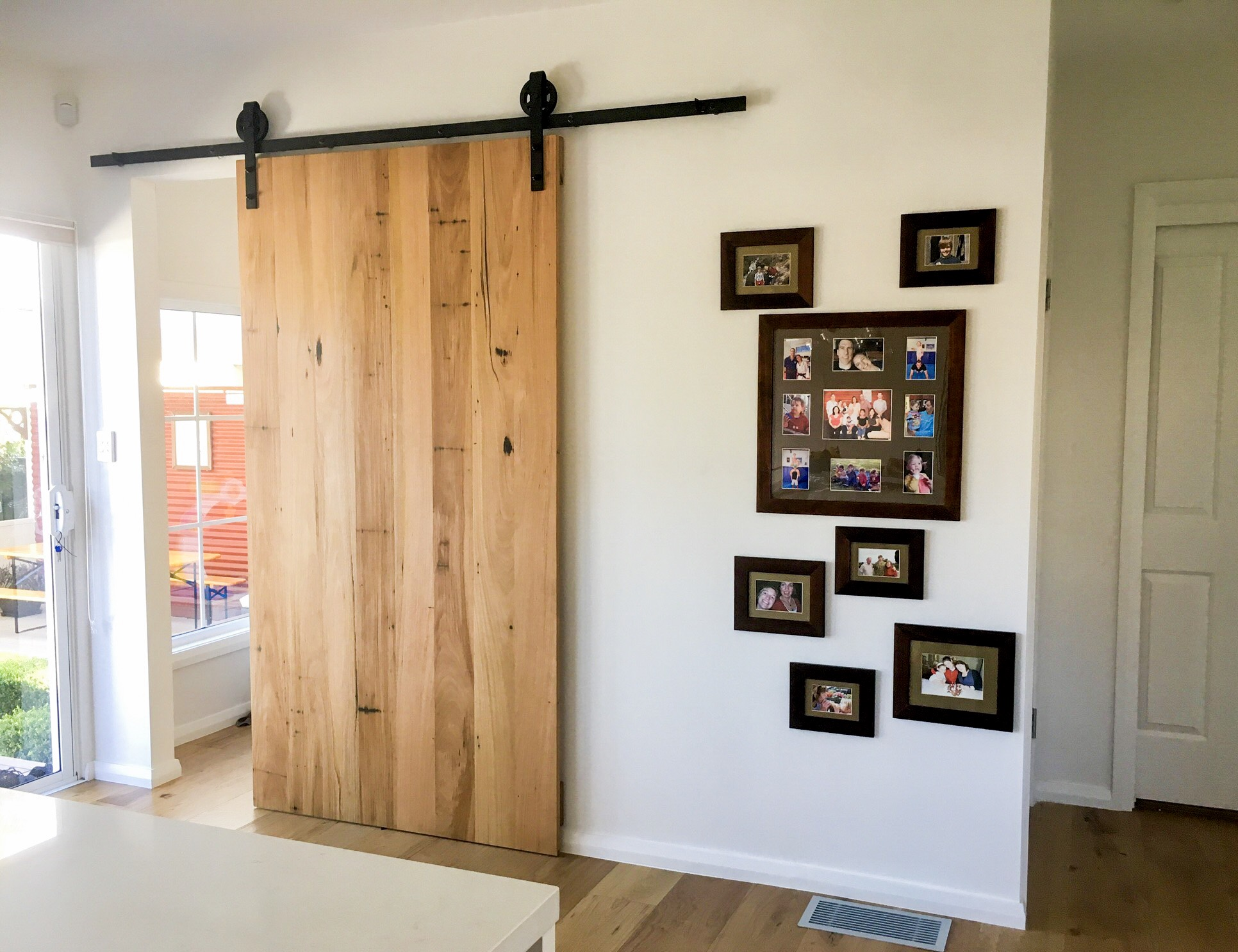 custom timber barn door