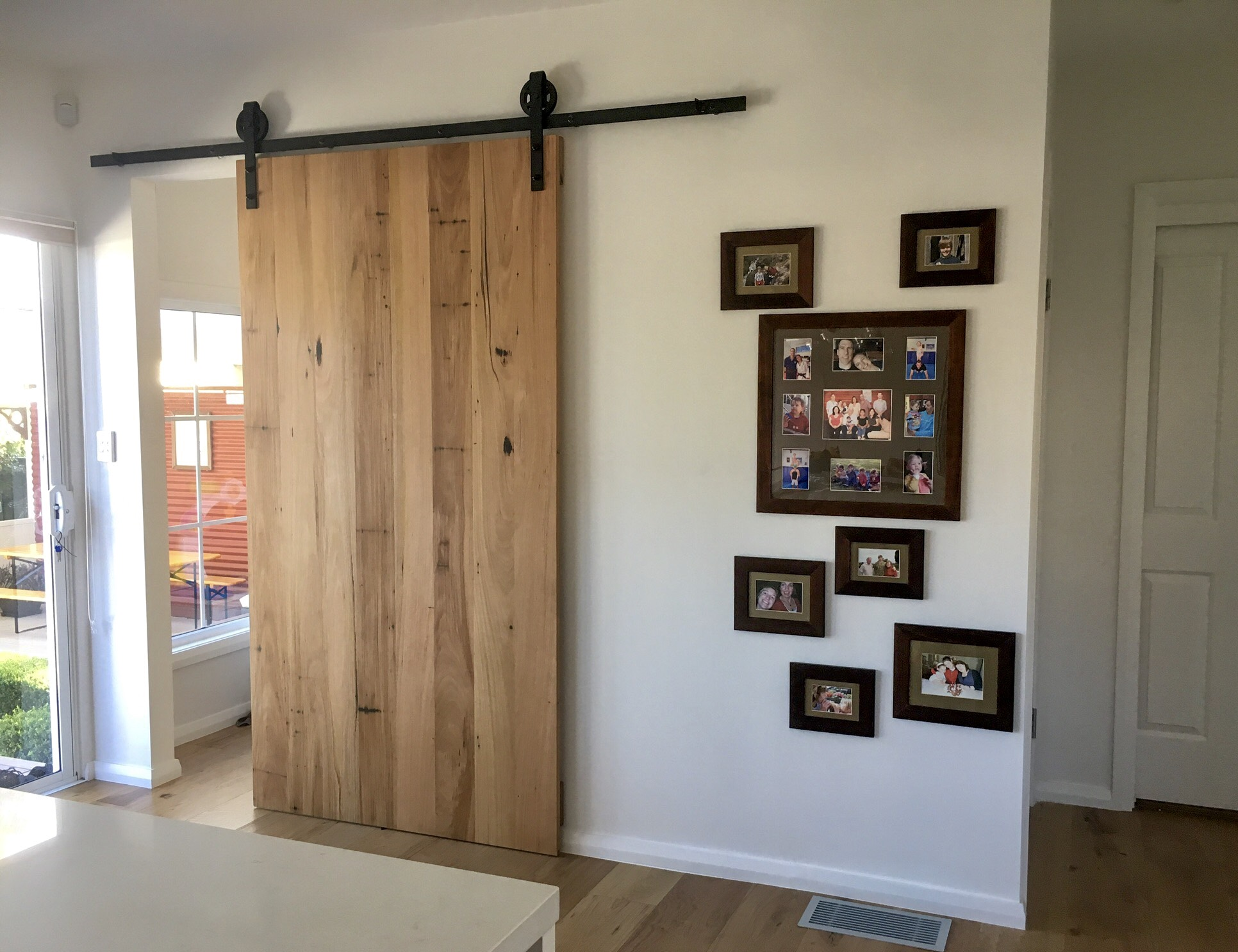 modern timber barn door