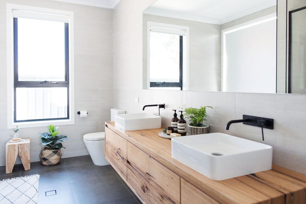 modern timber vanity design