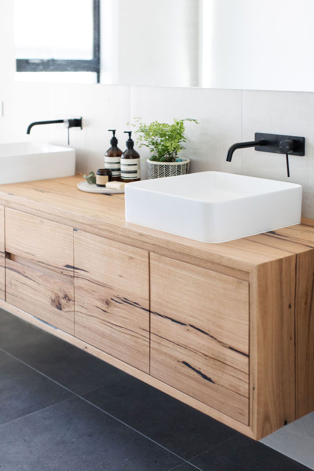 recycled messmate timber vanity