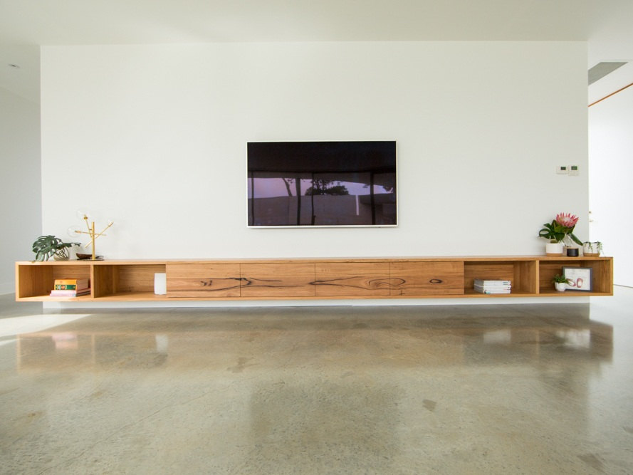 large floating tv stand