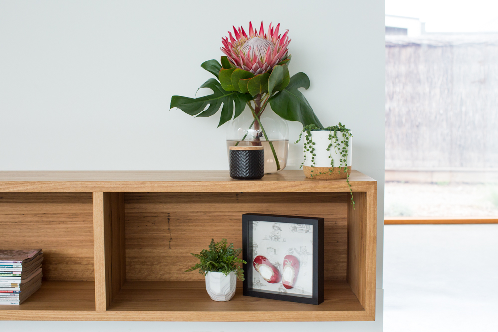 custom timber TV unit