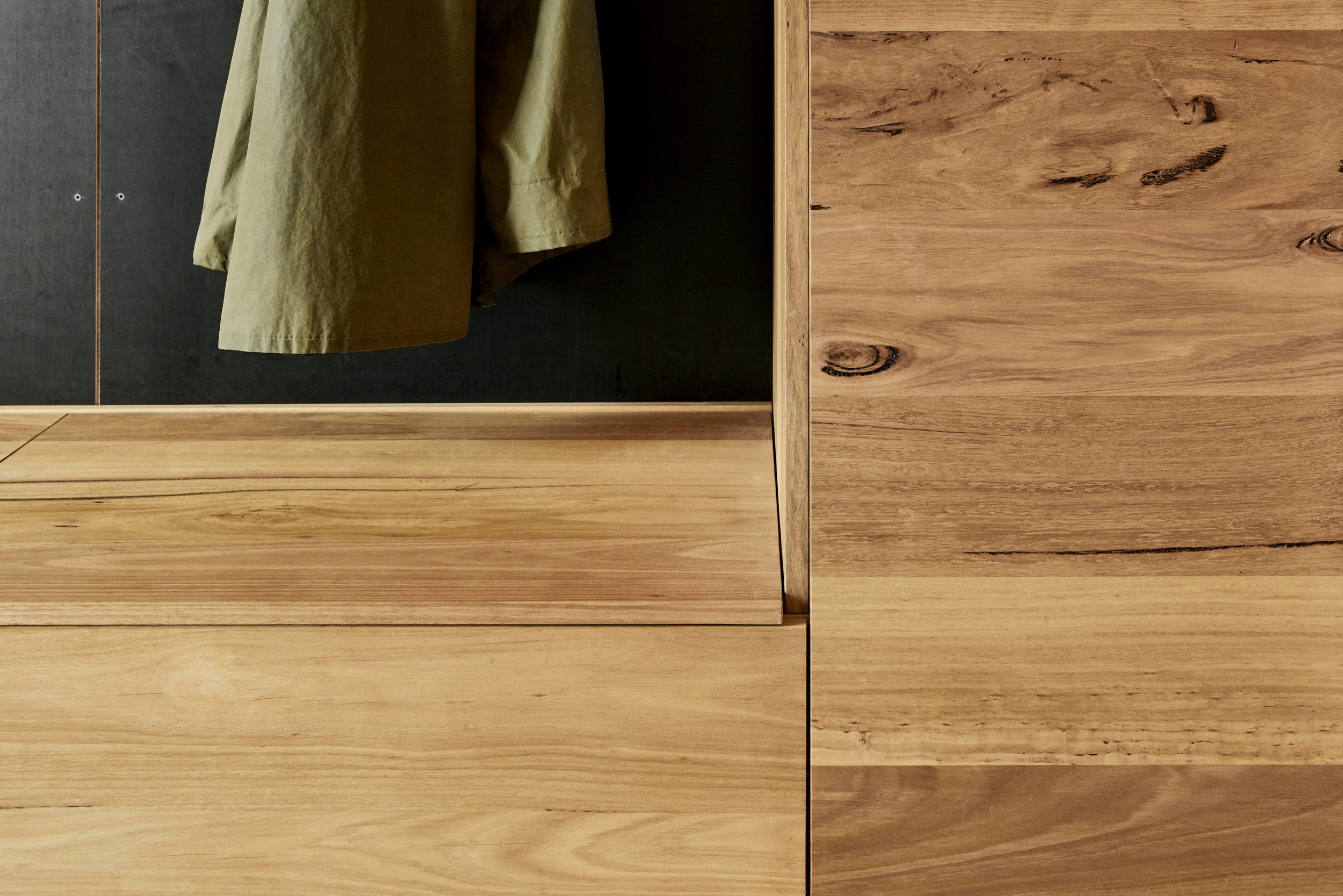 Messmate timber cabinets