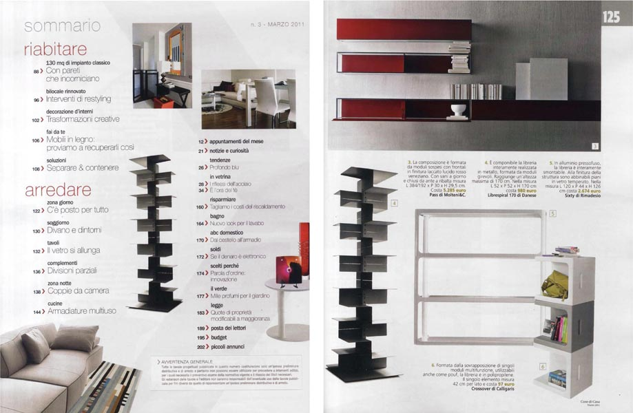 Cose di Casa - March 2011 - Italy - p 8 - 125 - Librespiral 170