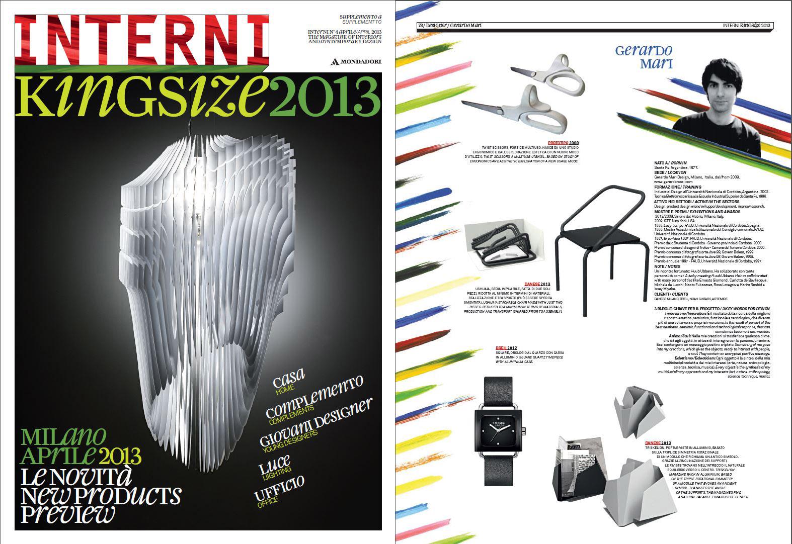 Interni King Size - April 2013 - Italy - Twist Scissors - Ushuaia - Square - Triskelion