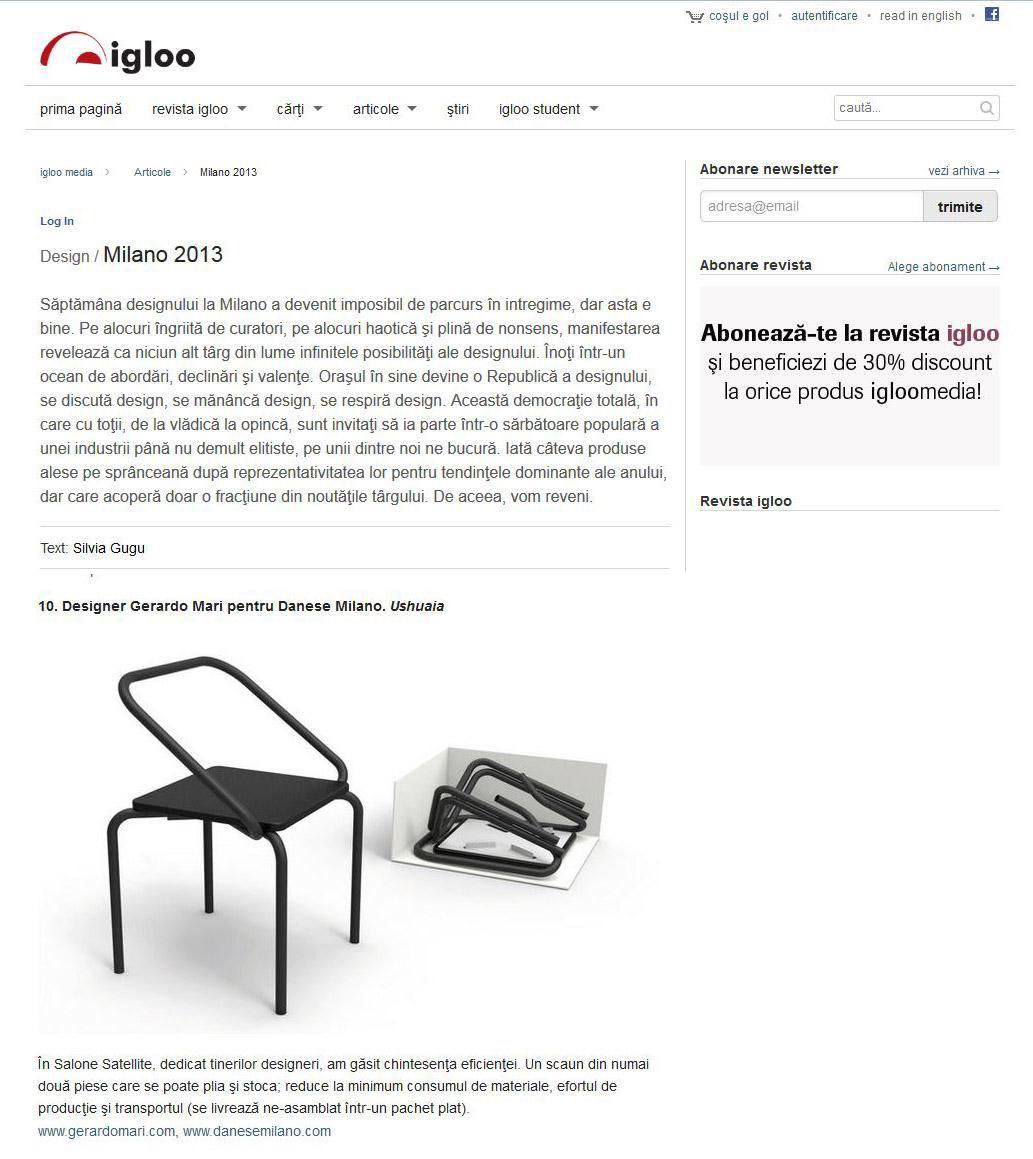 Igloo web - June 2013 - Romania - Ushuaia