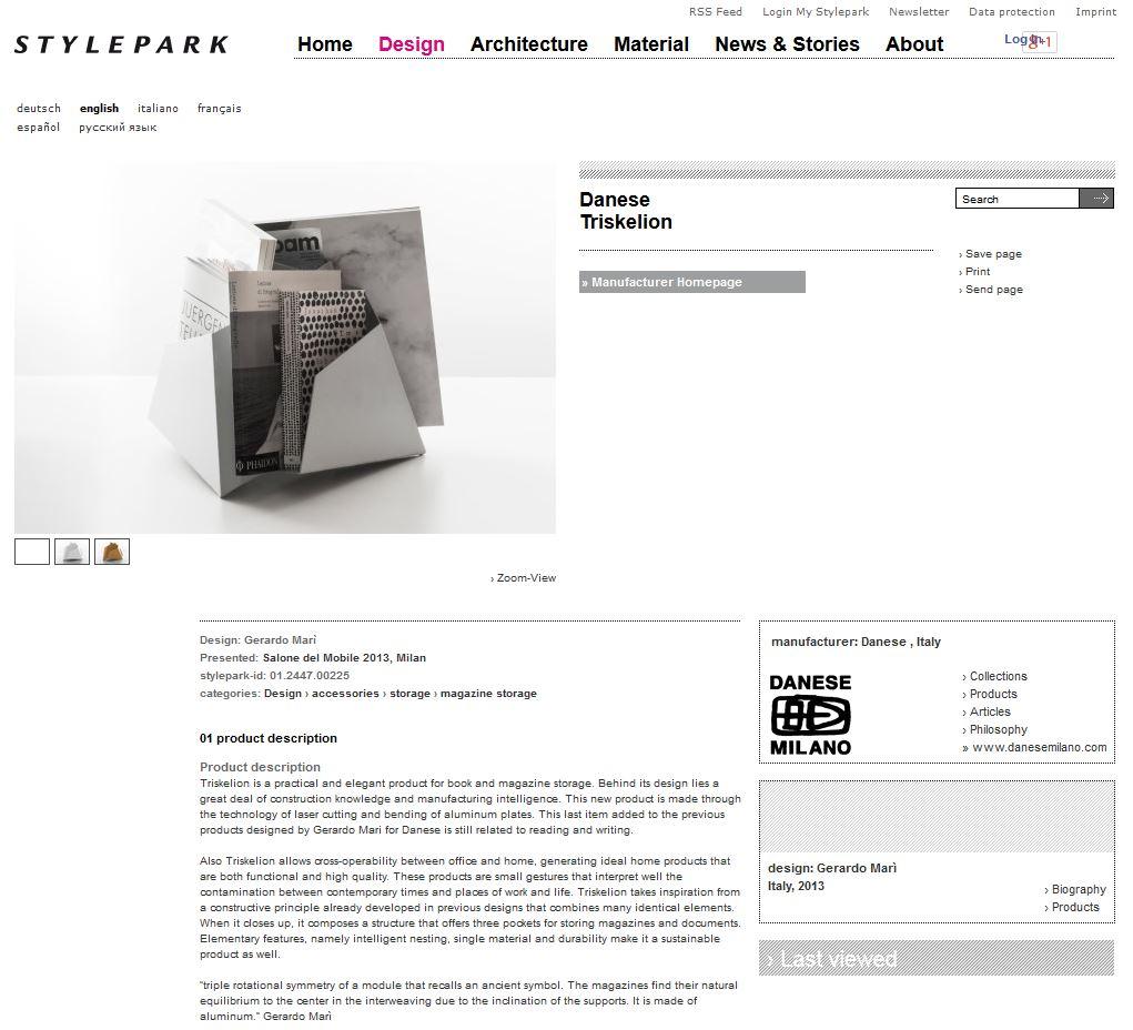 Stylepark Web - July 2013 - Germany - Triskelion