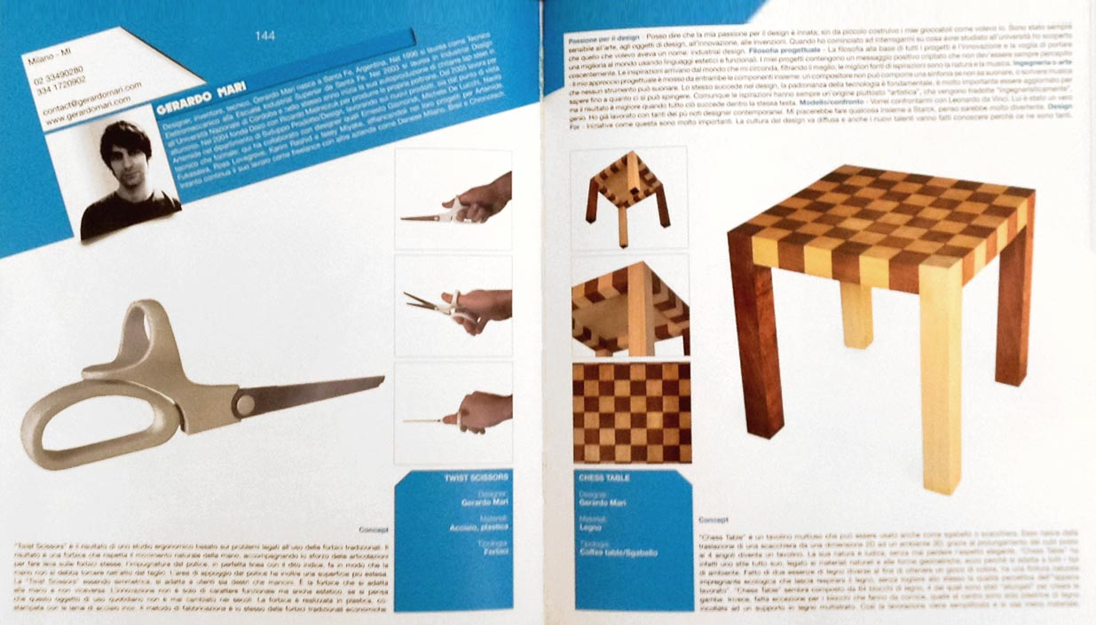 Design For - January 2013 -Italy - p 144 - Twist - Chess table