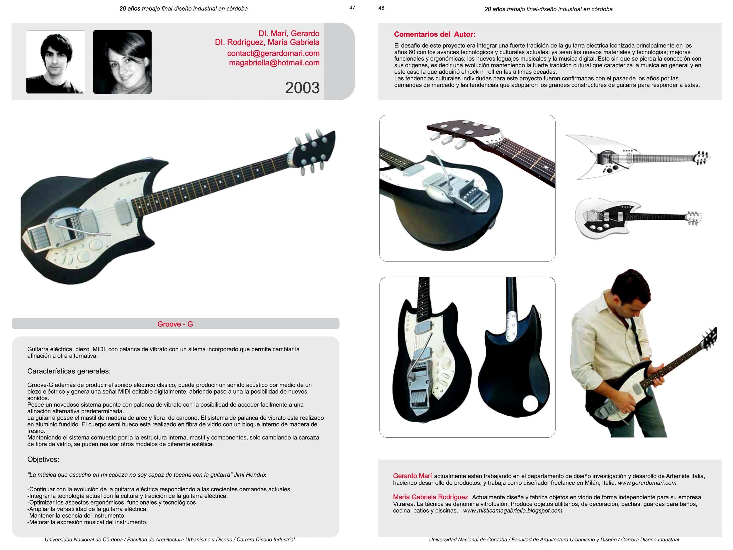 Diseño Industrial 20 años UNC - 2011 - Argentina - p 30 - Groove G