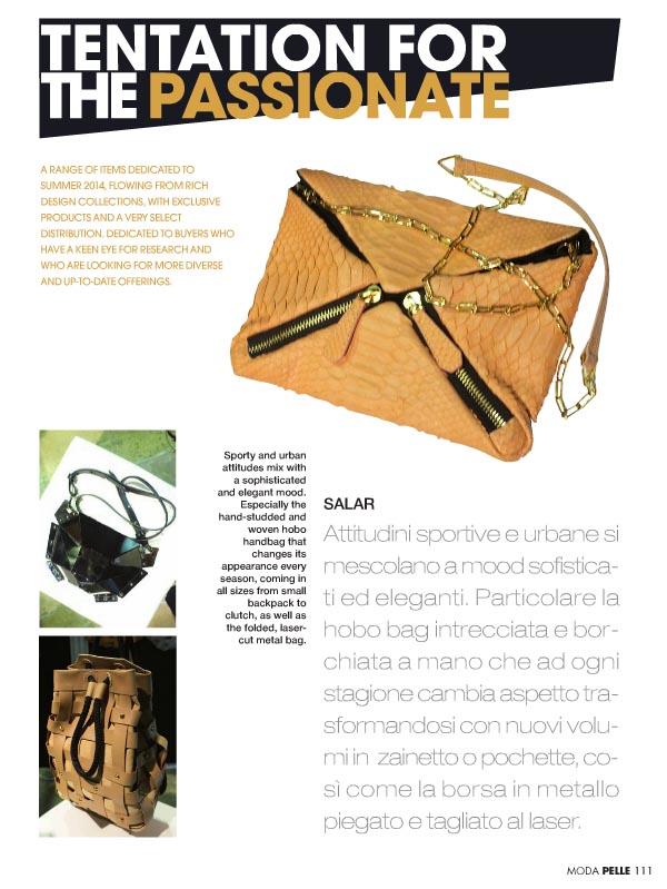 Moda Pelle Magazine - March 2014 - Italy - p 111 - Xaguara