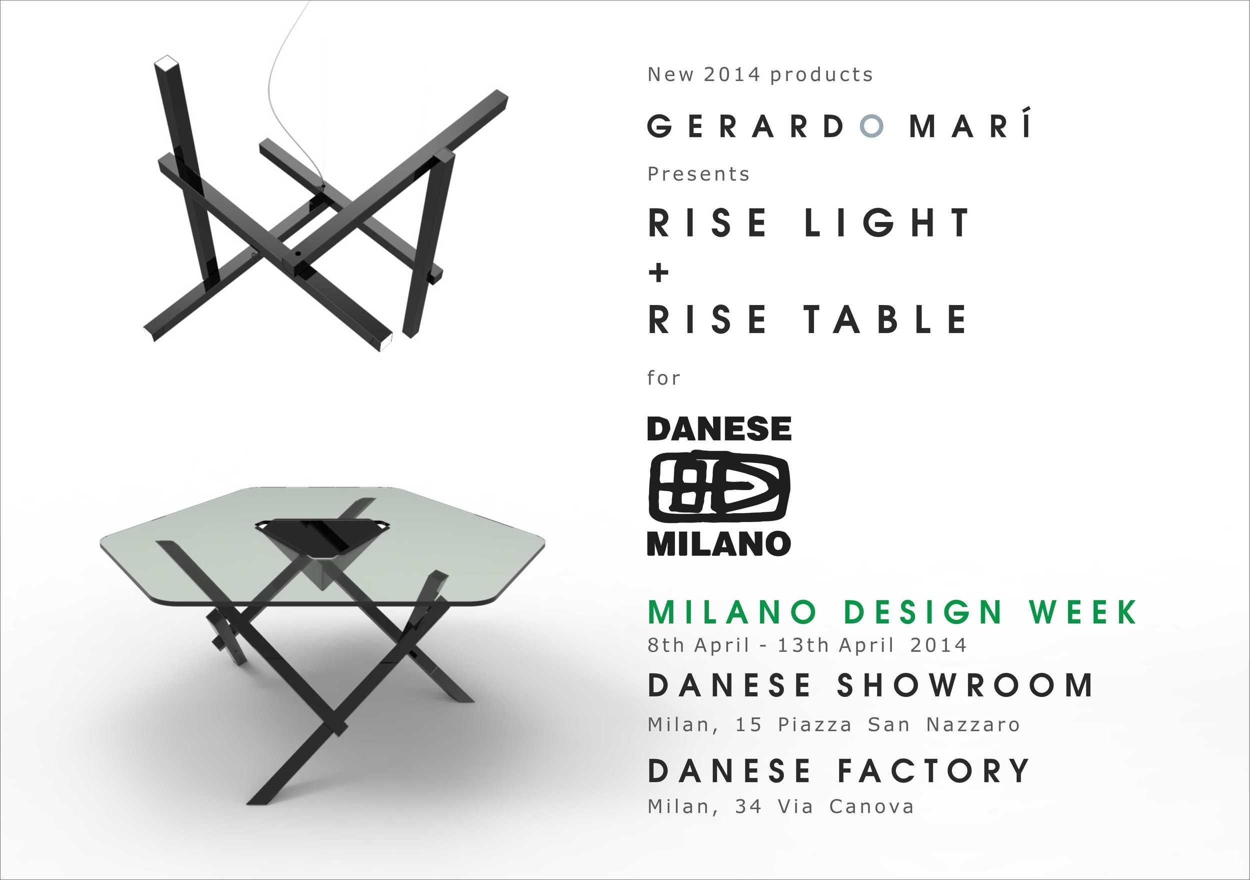 gerardo mari milan design week 2014 rise light table