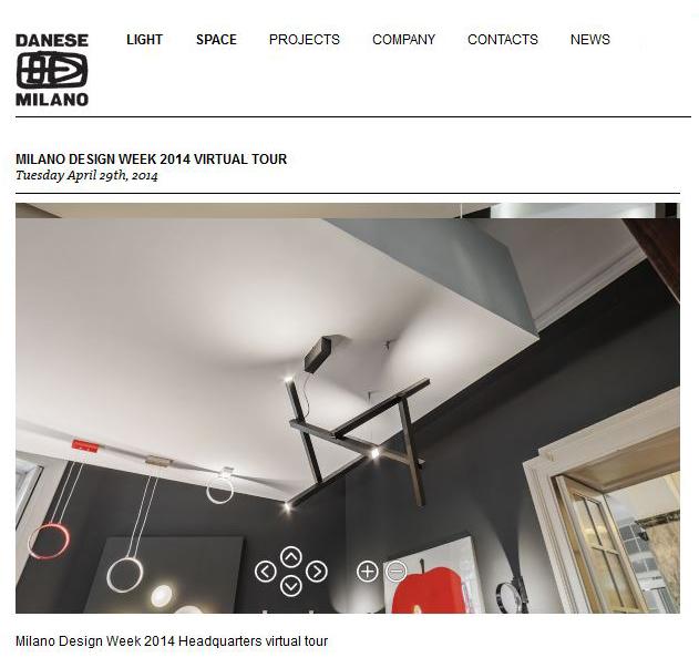 Design Week Virtual tour Danese Rise Light Gerardo Mari