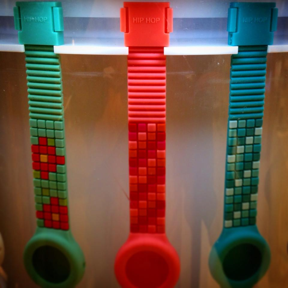 Safe Push Buckle on Hip-Hop watches