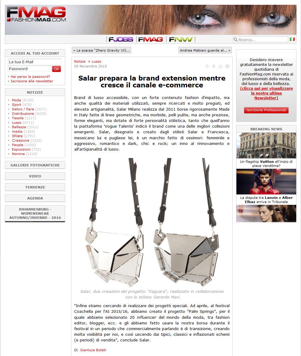 FashionMag - November 2015 - Italy - Xaguara