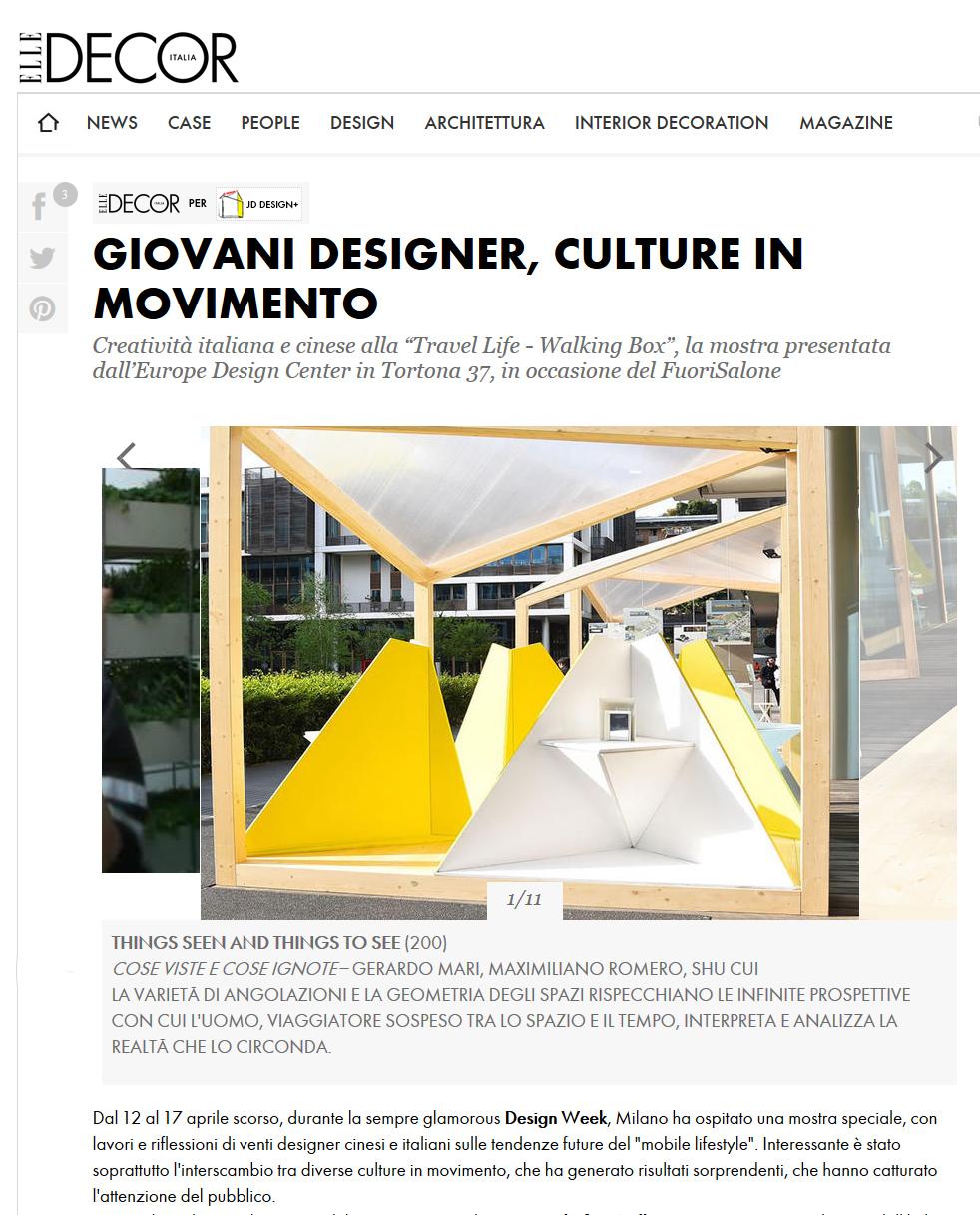 Elle Decor - April 2016 - Italy - Triskelion - Portal - Ram
