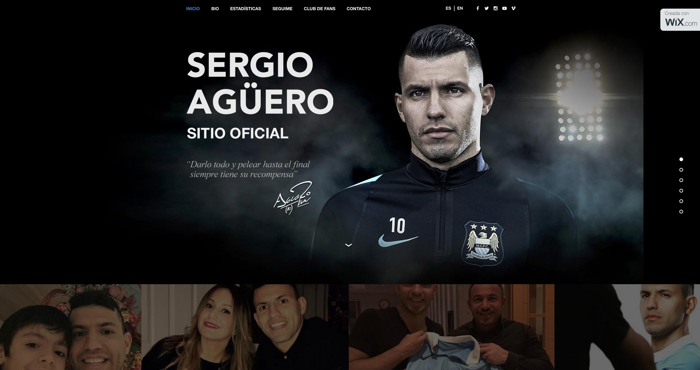 SERGIO AGUERO FOR WIX