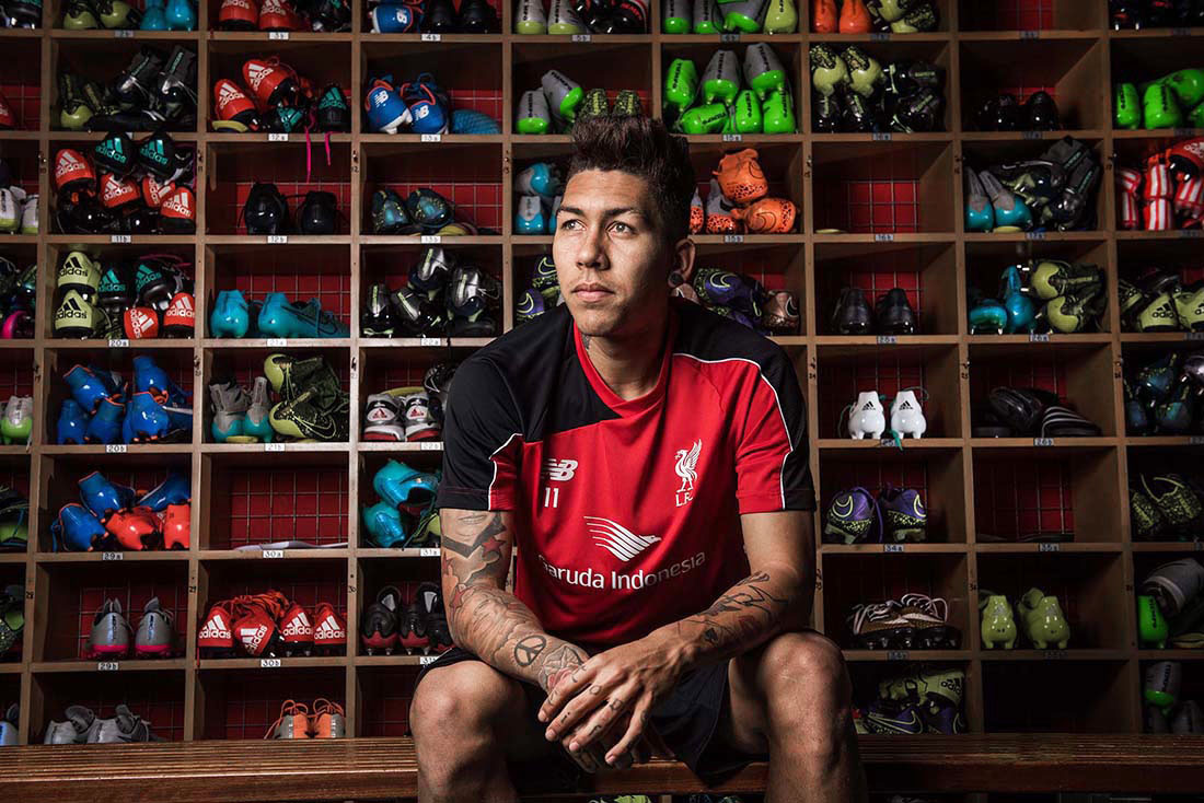 LIVERPOOL FC FOOTBALLER AND BRAZILIAN PICTURED AT MELWOOD LFC TRAINING GROUND PHOTO CREDIT PAUL COOPERINTERNATIONAL ROBERTO FIRMINO