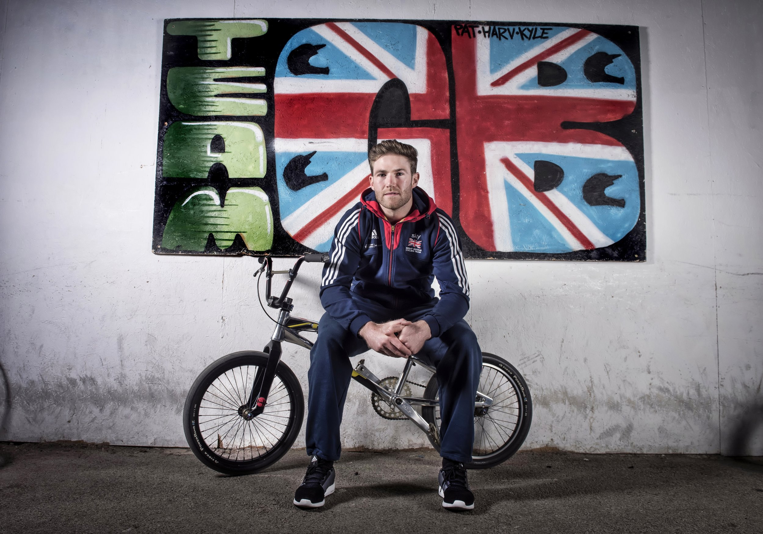 LIAM PHILIPS BMX RIDER PICTURED AT NATIONAL CYCLING CENTER IN MANCHESTER PHOTO CREDIT PAUL COOPER