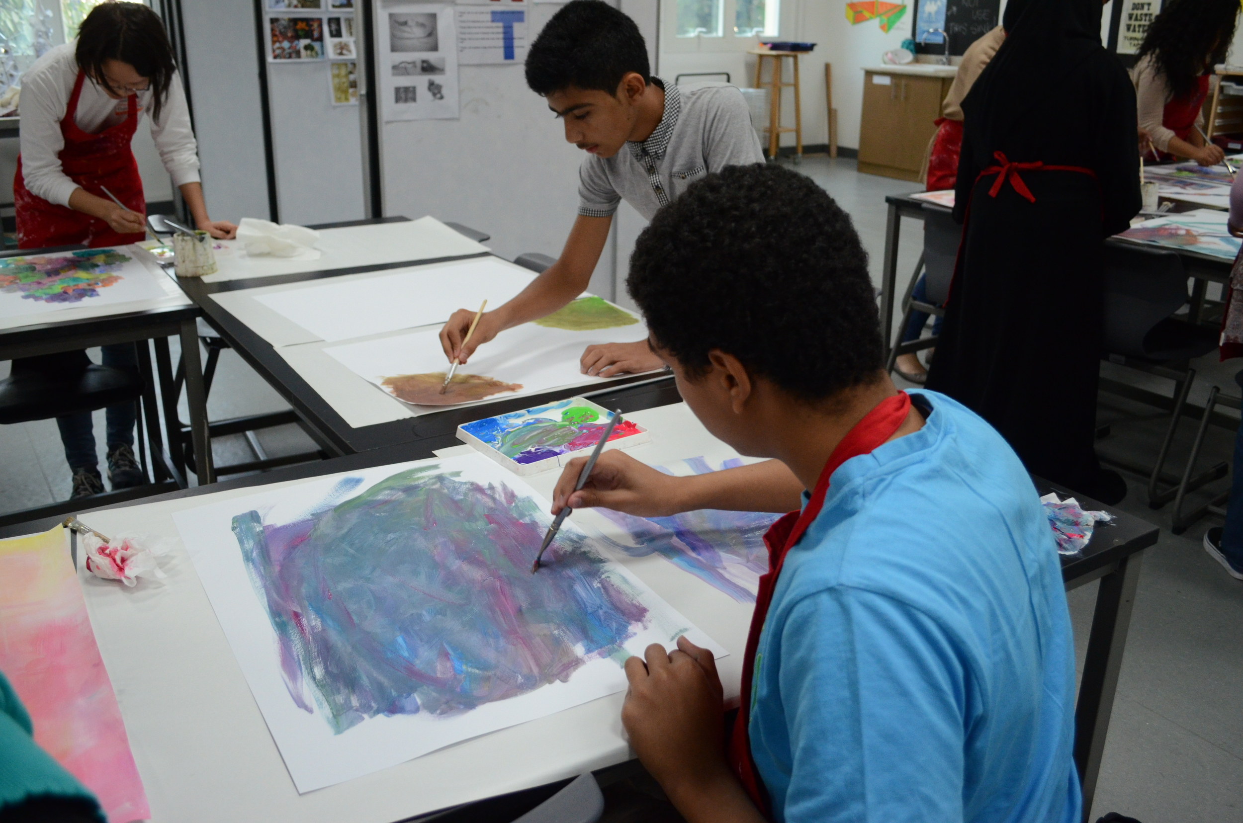 Abstract Art Class in Abu Dhabi
