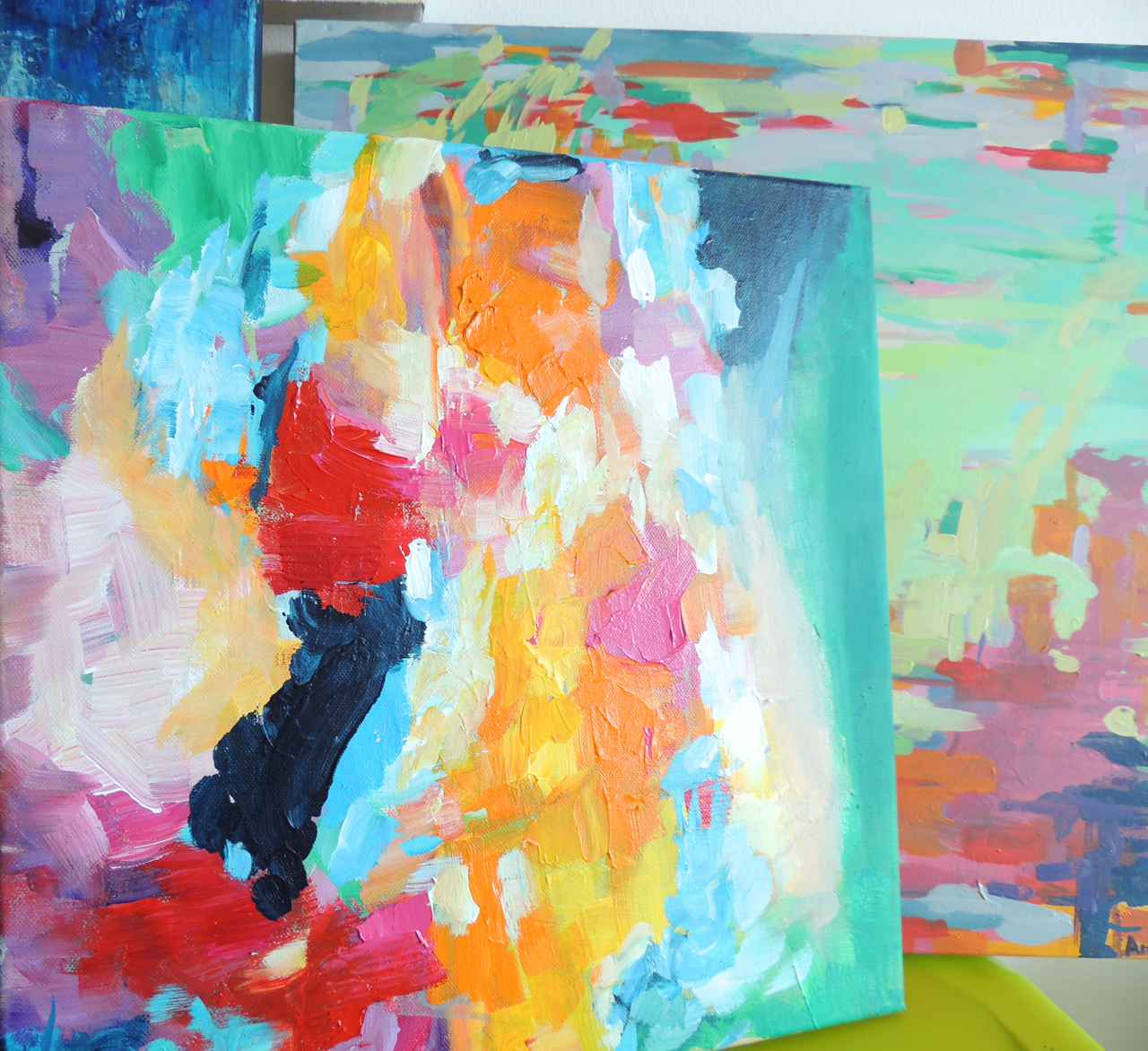 I love color. Stepping into my studio feels like I'm receiving a big color hug!