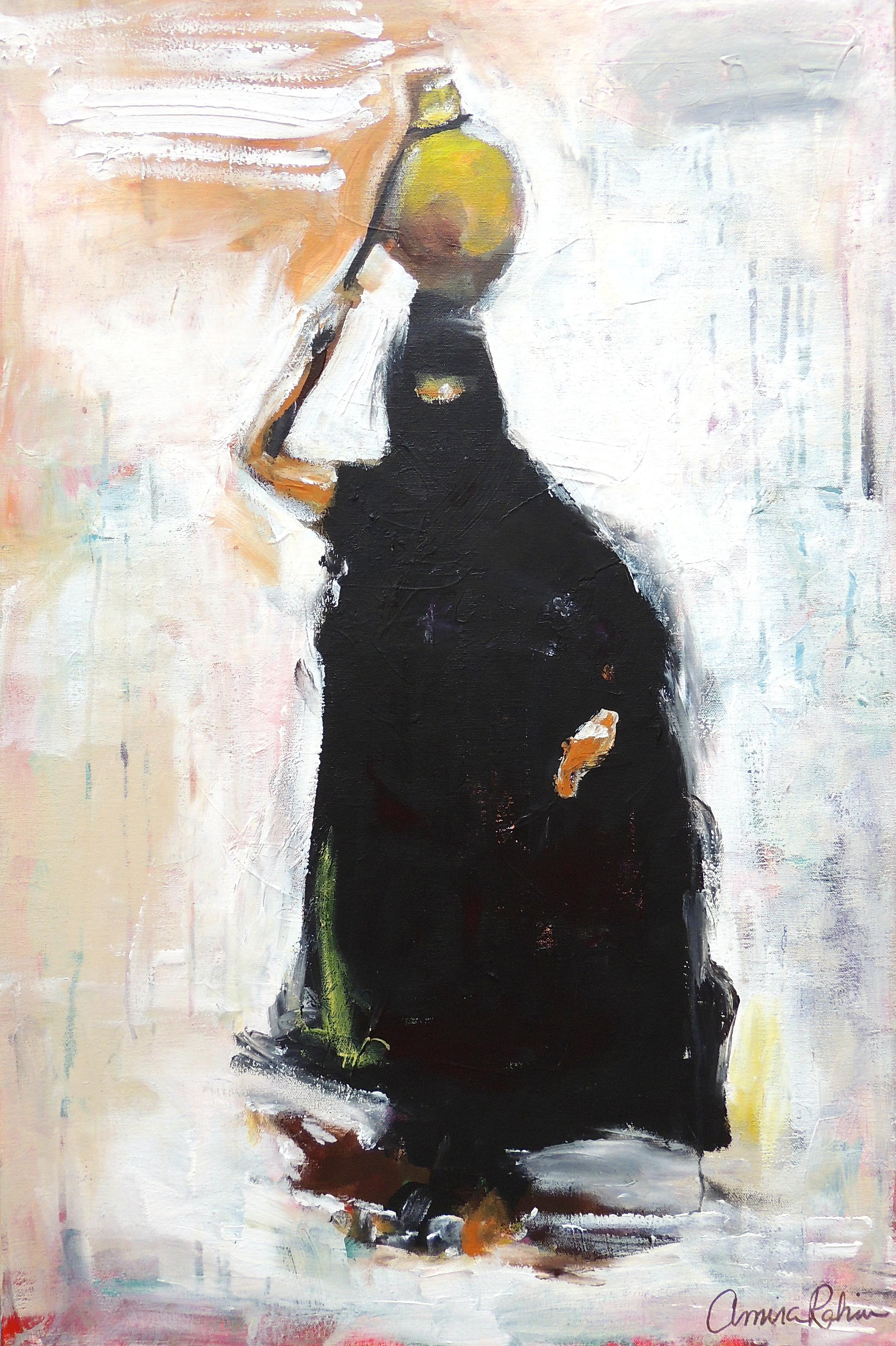 """Bedu 1"" 20x30"" acrylicandgesso on canvas, SOLD"