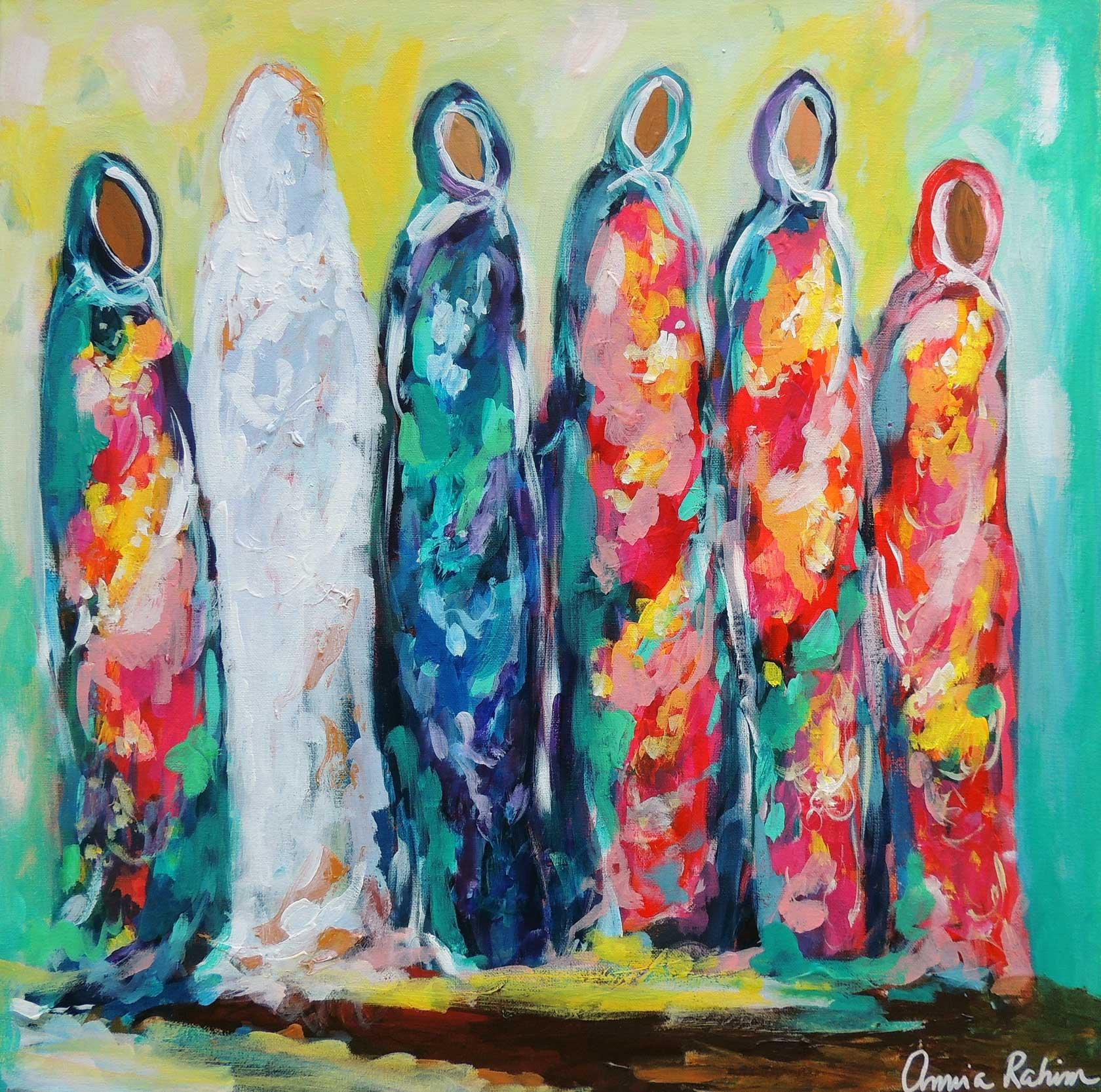 """The Wedding II"" 24x24"" acrylic on canvas, Available"