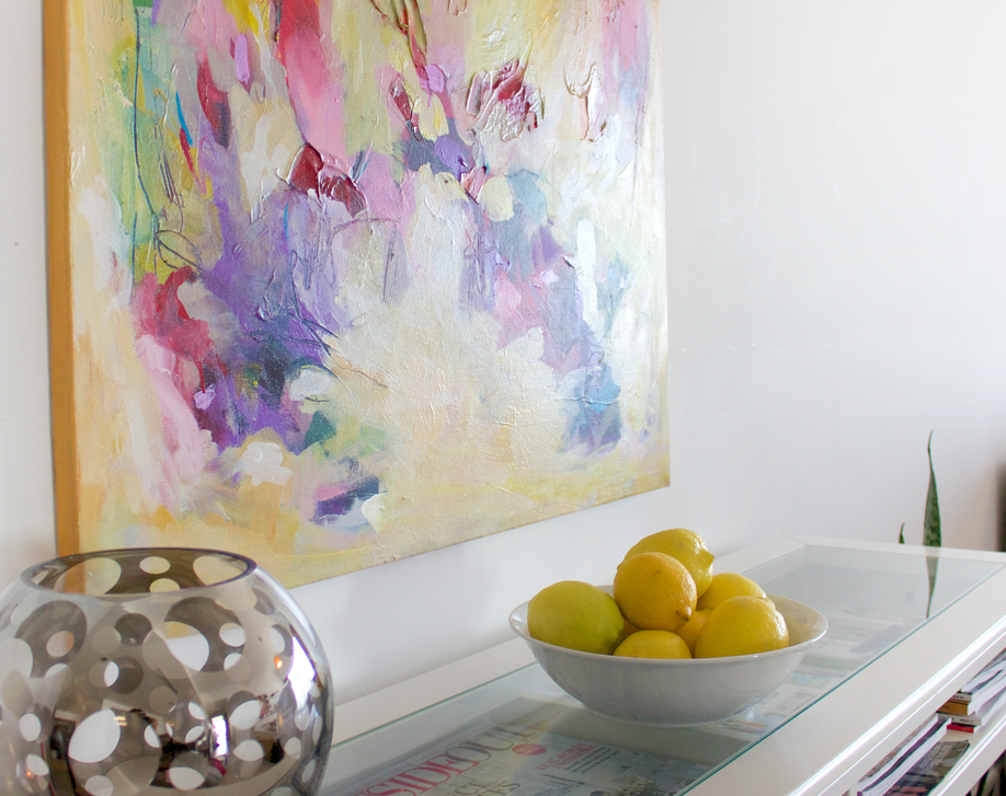 Short of fresh flowers, but I've been craving yellow so substituted with a bowl of fresh lemons. How do you add color to your home?