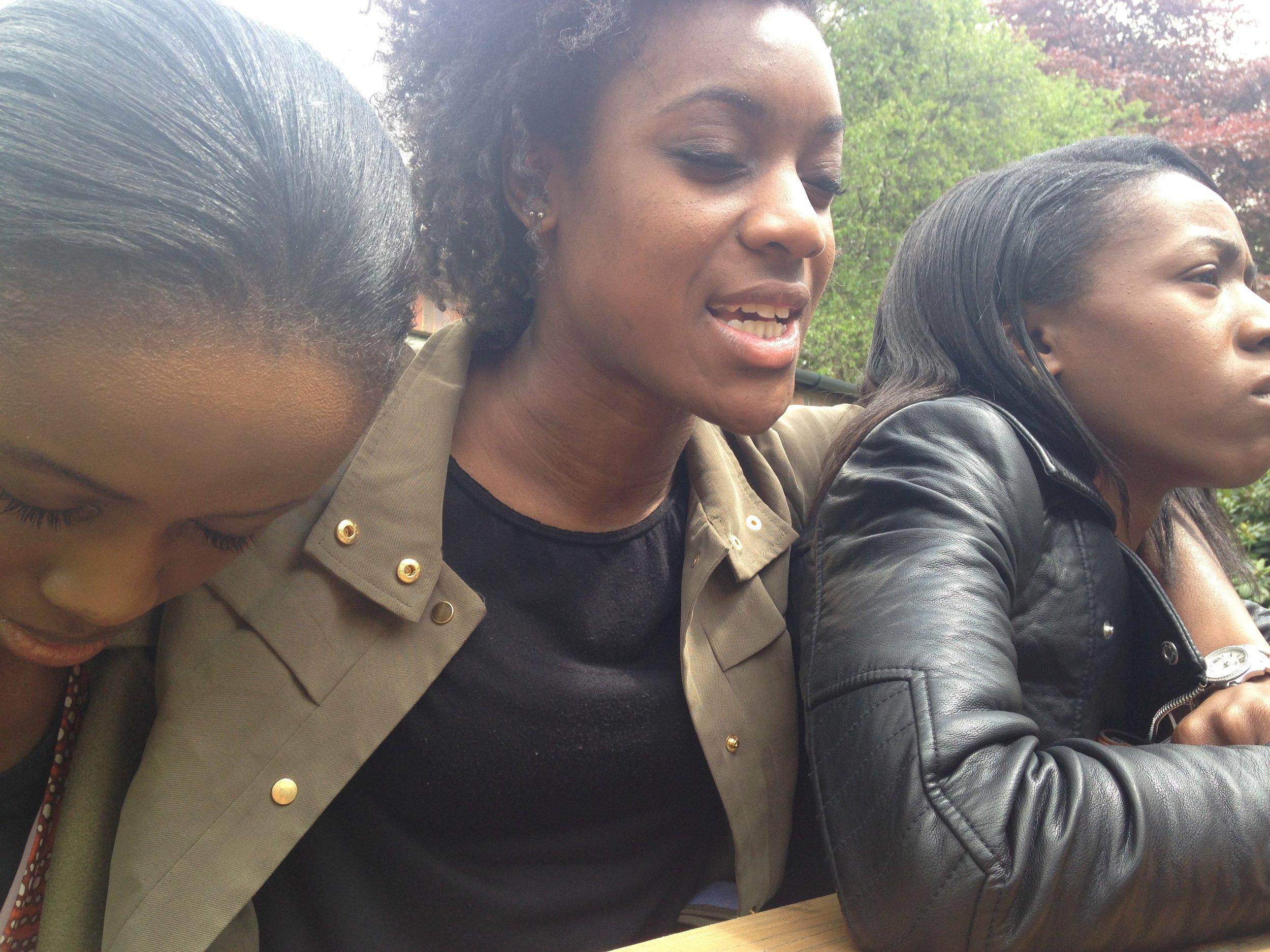 Samia Kanu, Shakira Bullen, Chidinma Obi, pray at University of Birmingham, UK, May 15, 2016