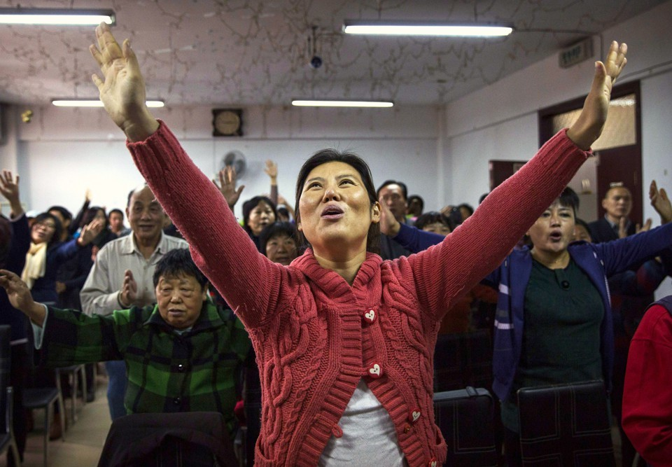 Unregistered Chinese church in Beijing; April 2017
