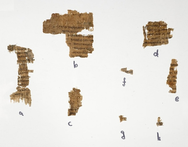 Papyrus Greek 458. John Rylands Library, Manchester, UK.