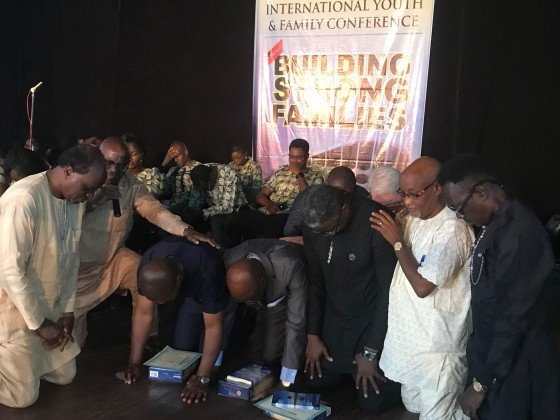 Prayer over newly-appointed teachers, Lagos, August 19, 2018