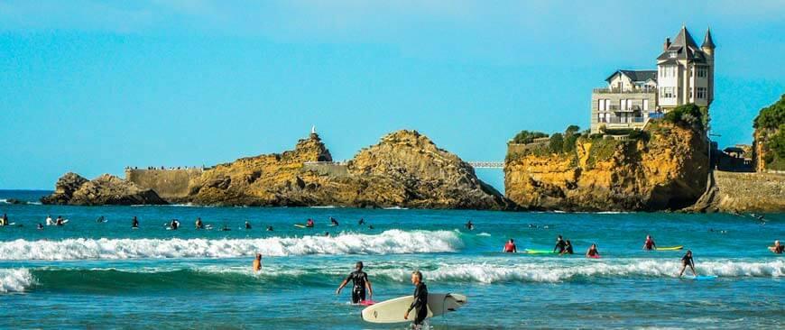 Biarritz, Côte d'argent
