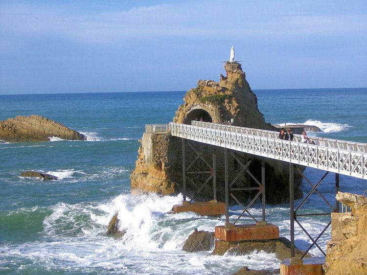 Rocher vierge Biarritz