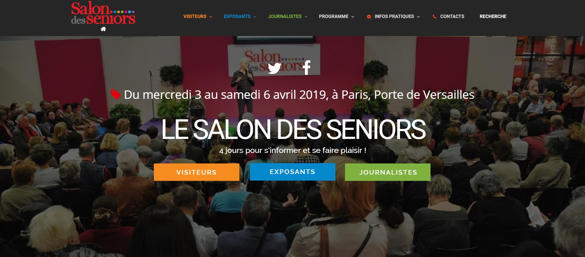 Salon des séniors paris 2019 Dax Hôtel Dax O'Thermes