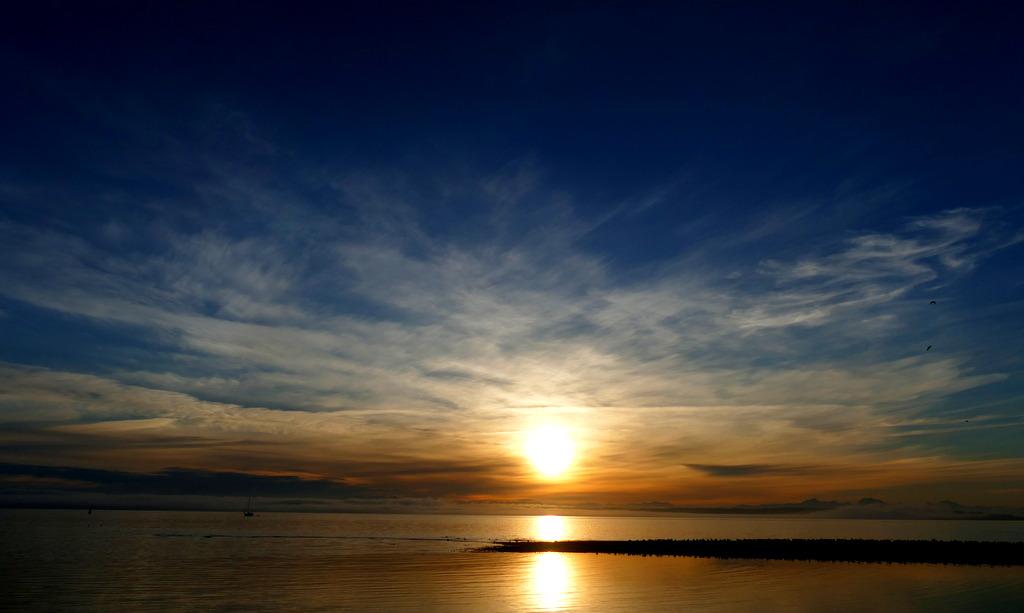 Leaving Port Townsend at Sunrise.