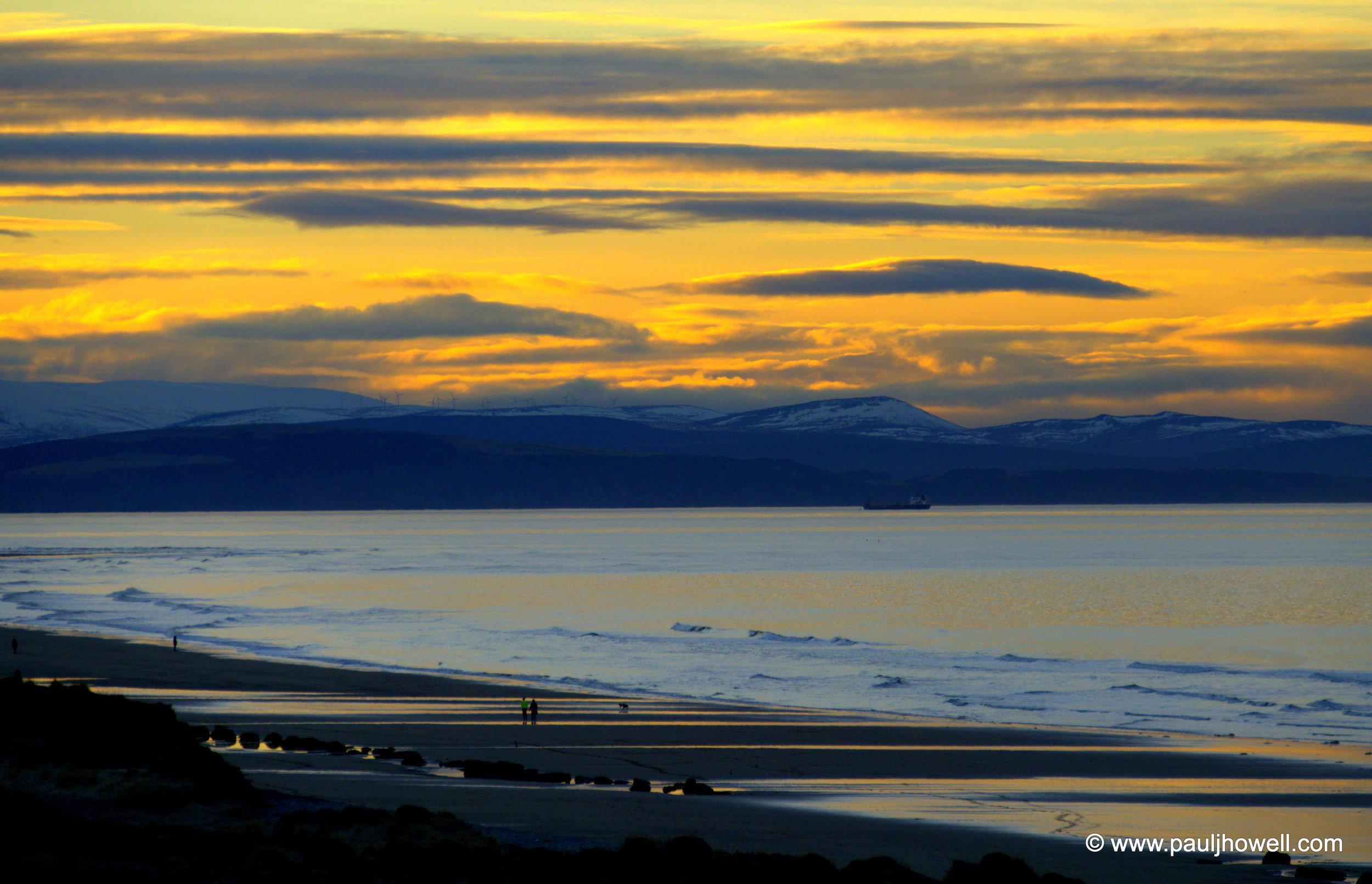 Findhorn Beach. Moray, Scotland - March 2016