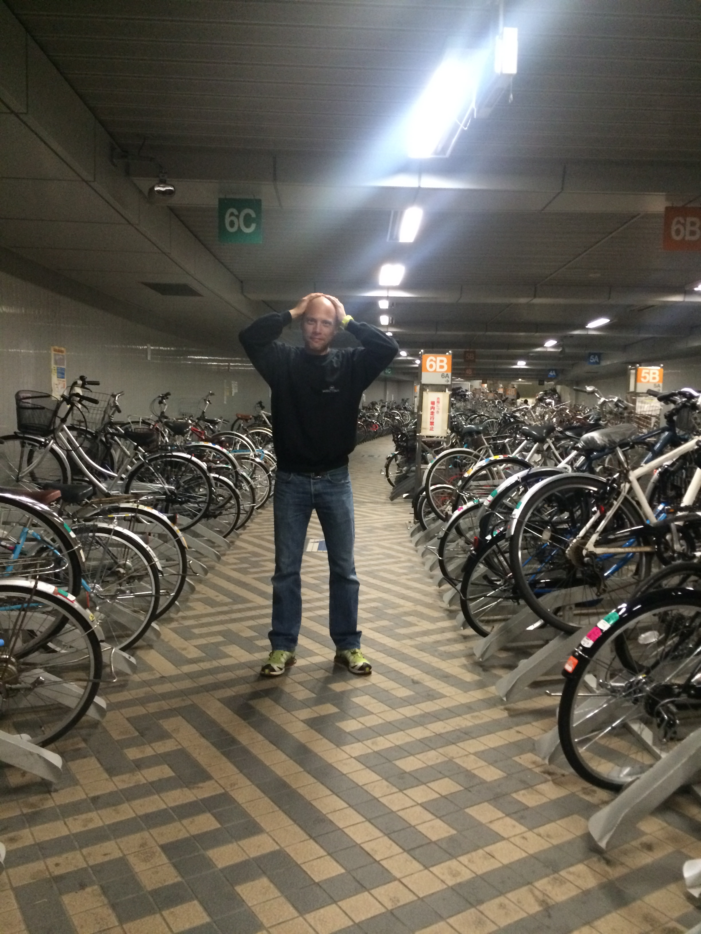 I could not find my bike in this underground bike park