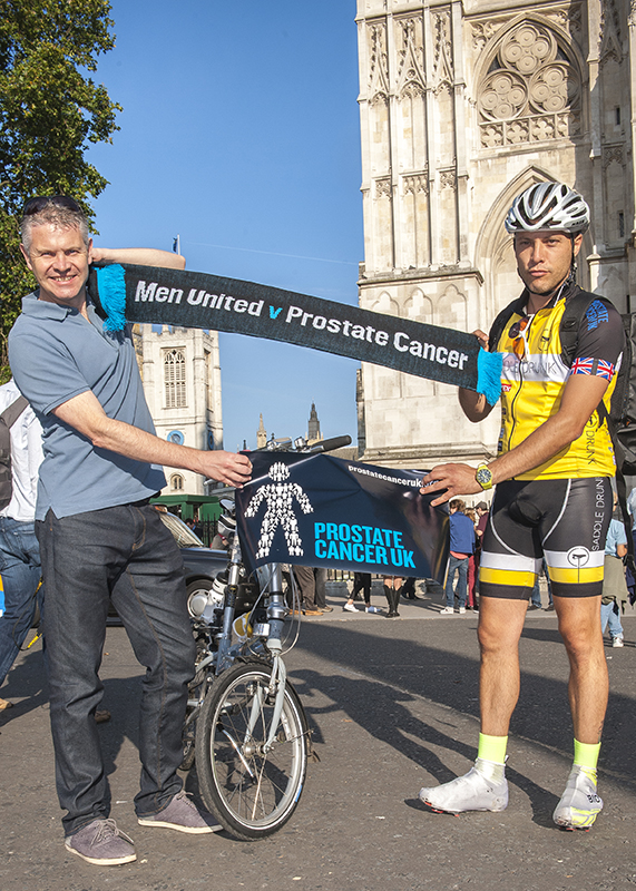 In London with Prostate Cancer UK representative