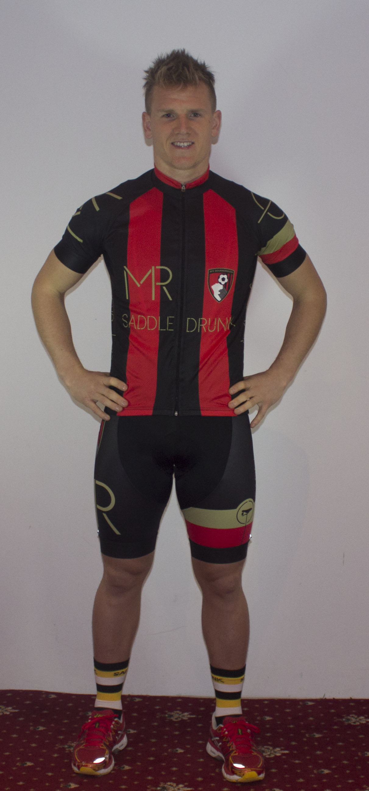 Matt wearing kit number