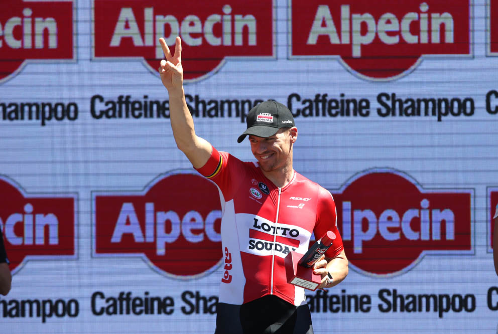 Adam Hansen Lotto-Soudal,was the Alpecin Most Competitive Rider of the day