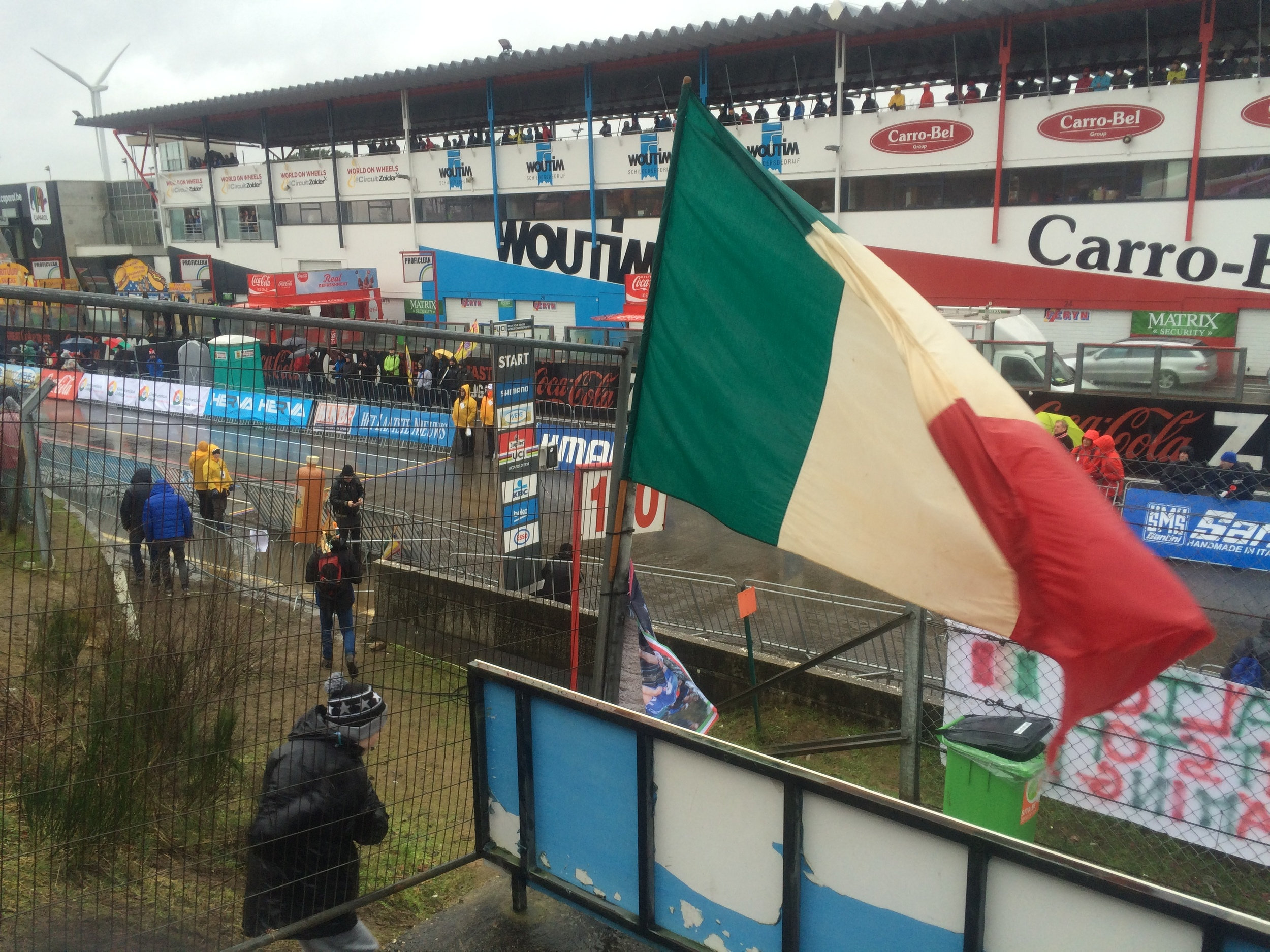 "Italian flag flying for the ""Azzurri"" girls & boys"